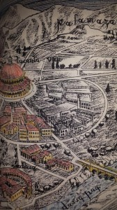 The book also covers hand-drawn maps which are said to be depictions of ancient cities of the planet of Kobol.